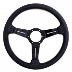 Nardi Sport Rally - 330mm (Black Perforated Leather / Italian Stitching)