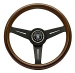Nardi Classic - 340mm (Wood Finish w/ Black Spokes)