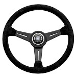 Nardi Classic - 360mm (Black Suede / Black Spoke w/ Black Stitching)