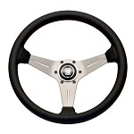 Nardi Sport Rally (Deep Corn) - 330mm (Silver / Black Suede / Red Stitch)