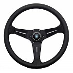 Nardi Sport Rally (Deep Corn) - 350mm (Black / Black Perf Leather / Black Stitch)