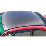 NRG Carbon Roof Cover Overlay - Honda Civic 2dr Coupe with Sunroof 96-00