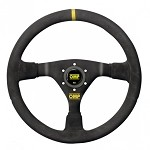 OMP WRC Steering Wheel - Suede Leather w/ Black Stitching (350mm)