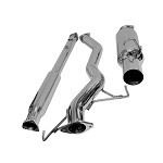 DC Sports Single Stainless Steel Cat-Back Exhaust - Mitsubishi Evolution VIII, IX 03-07