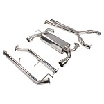 DC Sports Single Stainless Steel Cat-Back Exhaust (Dual Exit) - Nissan 370Z 08-12