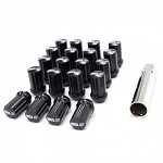 SSR GT Forged Lug Nuts (20pcs) w/ Spline Key - Black - 12x1.5