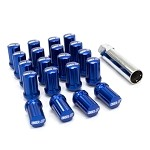 SSR GT Forged Lug Nuts (20pcs) w/ Spline Key - Blue - 12x1.5