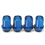 WedsSport Closed-Ended Racing Lug Nut (Aluminum Type) - Blue - M12 x 1.5