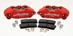Wilwood Forged DPHA Front Caliper Kit - Red - Honda/Acura