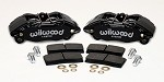 Wilwood Forged DPHA Front Caliper Kit - Black - Honda/Acura