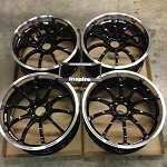 Yokohama Advan Racing RS-D Machine Black 20x8.5 +38 5x114.3