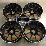 Yokohama Advan Racing RZ II Racing Gloss Black 18x9.0 +25 5x114.3