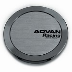 Advan Center Cap - Full Flat Cap (Hyper Black)