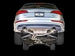 AWE Tuning Non-Resonated Exhaust System (Downpipe-Back) - Diamond Black Tips - Audi Q5 3.2L