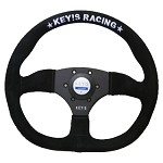 Key's Steering Wheel - D-Shape Type 345mm Suede