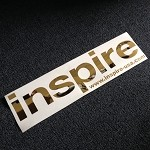 Inspire USA Decal Chrome Gold (16 inches)