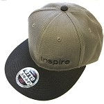 Inspire USA Snap Back Hat (grey hat, black bill, with black lettering)