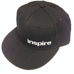 Inspire USA Snap Back Hat (black w/ white lettering)