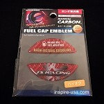 J's Racing Fuel Cap Emblem Red Carbon