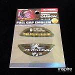 J's Racing Fuel Cap Emblem Black Carbon