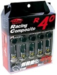 Project Kics R40 Black Chrome Lug Nuts - 12x1.25