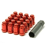 Muteki Classic Lugnuts - Red (Close Ended) - 12x1.25