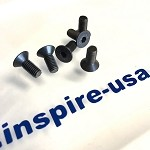 inspireUSA Steering Wheel Bolt Kit - Black Tapered