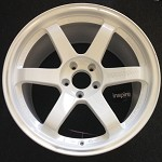 Rays Wheels Volk Racing TE37RT Dash White 18x10.5 +18 5x114.3