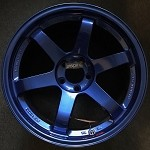 Rays Wheels Volk Racing TE37SL 18x10.5 +22 5x114.3 Hyper Blue