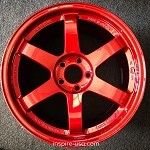 Rays Wheels Volk Racing TE37SL 18x10 +40 5x114.3 Hyper Red