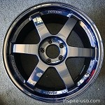 Rays Wheels Volk Racing TE37SL 18x9.5 +40 5x114.3 Mag Blue