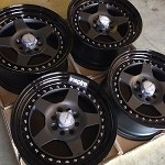 Work Wheels Meister CR01 15x8.0 MBL Face Custom Color Barrel