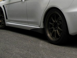 Voltex Carbon Rear Side Spats - Mitsubishi EVO X 08+