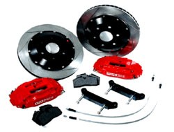 StopTech Big Brake Kit - 350Z 03+ & Skyline R35 - Fits All 18in Stock Wheels (ST-40 Front, ST-22 Rea