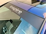 inspireUSA Full Windshield Banner - Matte Black w/ Silver
