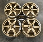 Rays Wheels Volk Racing TE37SL 18x9.5 +40 5x114.3 Hyper Gold