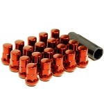 Muteki SR35 Lug Nut and Lock Set - Red (Close Ended) - 12x1.25
